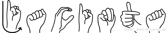 Jacinta im Fingeralphabet der Deutschen Gebärdensprache