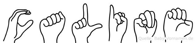 Caline in Fingersprache für Gehörlose