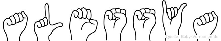 Alessya in Fingersprache für Gehörlose
