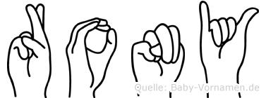 Rony in Fingersprache für Gehörlose