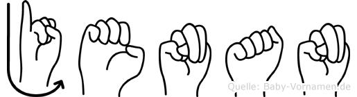 Jenan im Fingeralphabet der Deutschen Gebärdensprache