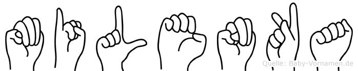 Milenka in Fingersprache für Gehörlose