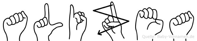 Alizea in Fingersprache für Gehörlose