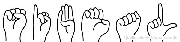 Sibeal in Fingersprache für Gehörlose