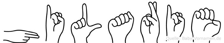 Hilarie in Fingersprache für Gehörlose