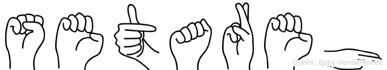 Setareh im Fingeralphabet der Deutschen Gebärdensprache