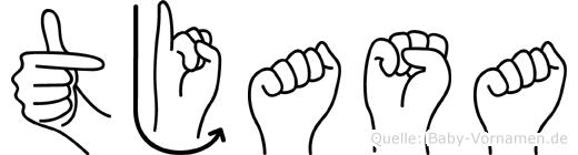 Tjasa in Fingersprache für Gehörlose