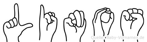 Linos im Fingeralphabet der Deutschen Gebärdensprache