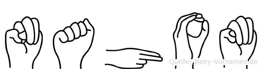 Nahom in Fingersprache für Gehörlose
