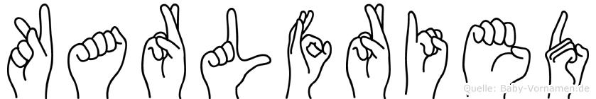 Karlfried in Fingersprache für Gehörlose