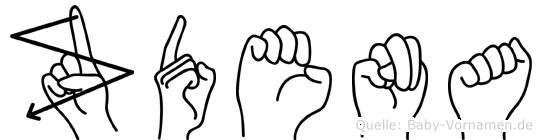 Zdena in Fingersprache für Gehörlose