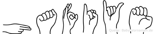 Hafiye im Fingeralphabet der Deutschen Gebärdensprache