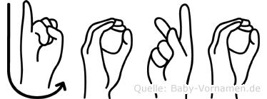 Joko in Fingersprache für Gehörlose