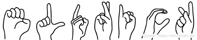Eldrick im Fingeralphabet der Deutschen Gebärdensprache