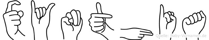 Xynthia im Fingeralphabet der Deutschen Gebärdensprache