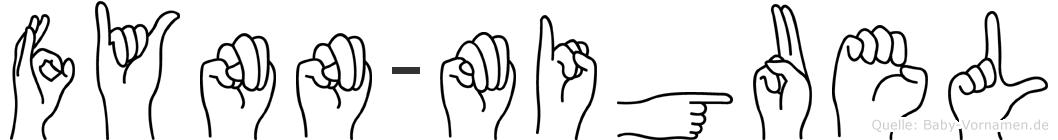 Fynn-Miguel im Fingeralphabet der Deutschen Gebärdensprache