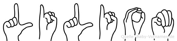 Liliom in Fingersprache für Gehörlose