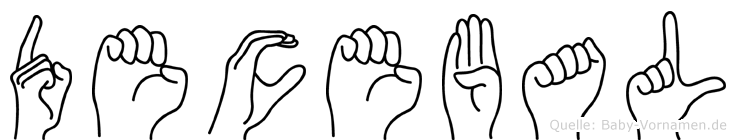 Decebal im Fingeralphabet der Deutschen Gebärdensprache
