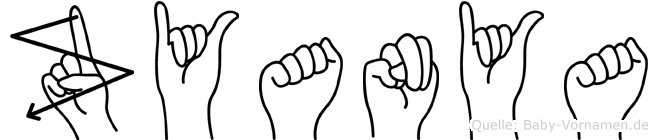 Zyanya im Fingeralphabet der Deutschen Gebärdensprache