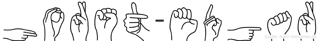 Horst-Edgar im Fingeralphabet der Deutschen Gebärdensprache