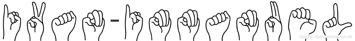 Ivan-Immanuel im Fingeralphabet der Deutschen Gebärdensprache