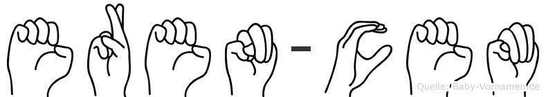 Eren-Cem im Fingeralphabet der Deutschen Gebärdensprache