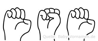 Ese im Fingeralphabet der Deutschen Gebärdensprache