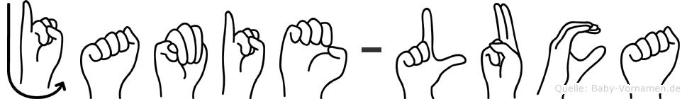 Jamie-Luca im Fingeralphabet der Deutschen Gebärdensprache