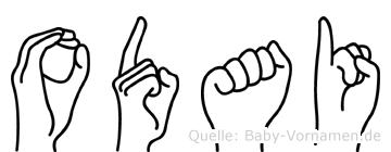 Odai in Fingersprache für Gehörlose