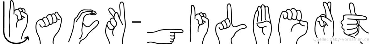Jack-Gilbert im Fingeralphabet der Deutschen Gebärdensprache