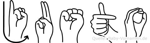 Justo in Fingersprache für Gehörlose