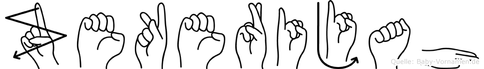 Zekerijah in Fingersprache für Gehörlose
