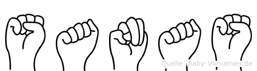 Sanas im Fingeralphabet der Deutschen Gebärdensprache