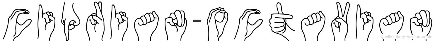 Ciprian-Octavian im Fingeralphabet der Deutschen Gebärdensprache