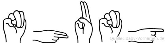 Nhung in Fingersprache für Gehörlose