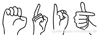 Edit in Fingersprache für Gehörlose