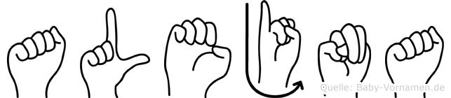 Alejna in Fingersprache für Gehörlose