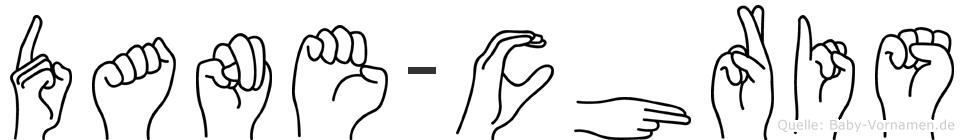 Dane-Chris im Fingeralphabet der Deutschen Gebärdensprache