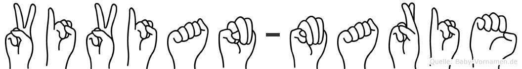 Vivian-Marie im Fingeralphabet der Deutschen Gebärdensprache