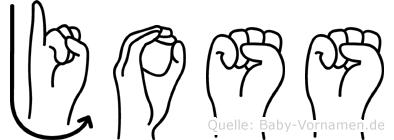 Joss im Fingeralphabet der Deutschen Gebärdensprache