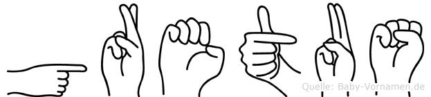Gretus in Fingersprache für Gehörlose