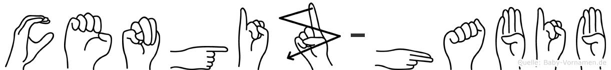 Cengiz-Habib im Fingeralphabet der Deutschen Gebärdensprache