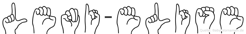 Leni-Elise im Fingeralphabet der Deutschen Gebärdensprache