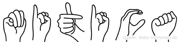 Mitica im Fingeralphabet der Deutschen Gebärdensprache