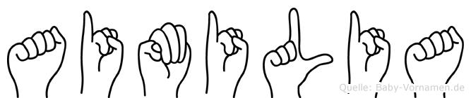 Aimilia in Fingersprache für Gehörlose