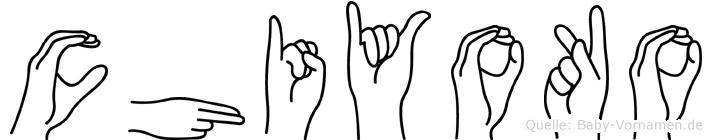 Chiyoko im Fingeralphabet der Deutschen Gebärdensprache