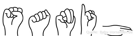Sanih im Fingeralphabet der Deutschen Gebärdensprache