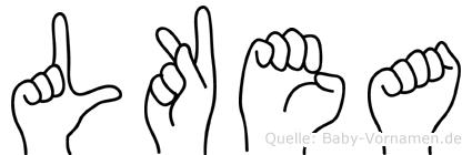 Lükea in Fingersprache für Gehörlose