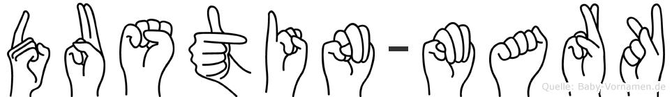 Dustin-Mark im Fingeralphabet der Deutschen Gebärdensprache