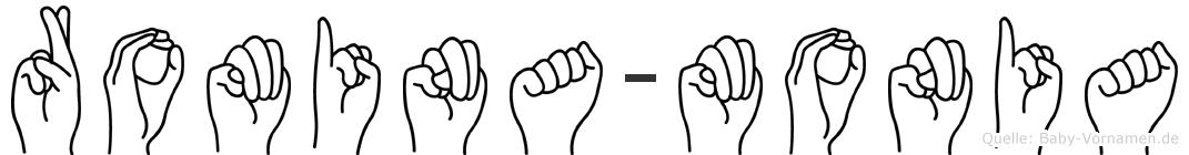 Romina-Monia im Fingeralphabet der Deutschen Gebärdensprache